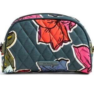 Vera Bradley Small Zip Cosmetic Falling Flowers